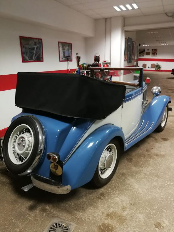 Noleggio auto d'epoca anni 30 Fiat Balilla Garavini Cabriolet per matrimoni a Roma e tutta la provincia - noleggio auto matrimoni roma - noleggio auto matrimonio - notte auto d'epoca