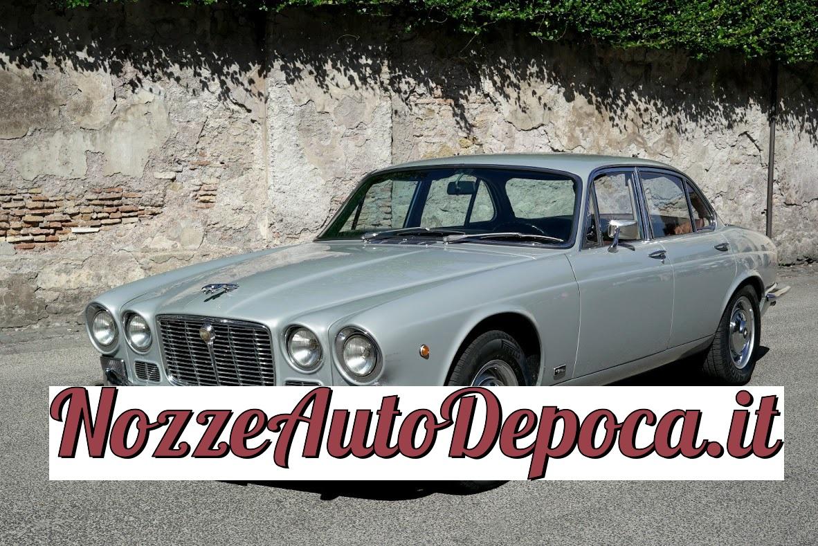 Noleggio auto d'epoca Jaguard XJ per matrimoni a Roma e tutta la provincia - noleggio auto matrimoni roma - noleggio auto matrimonio - notte auto d'epoca