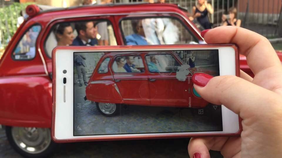 Noleggio auto d'epoca Citroen Dyane Cabrio style per matrimoni a Roma e tutta la provincia - noleggio auto matrimoni roma - noleggio auto matrimonio - notte auto d'epoca
