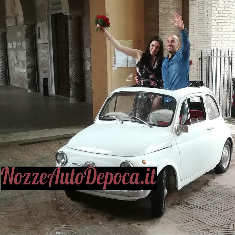 noleggio fiat 500 roma - noleggio auto d'epoca roma - noleggio auto storiche - fiat 500 matrimonio