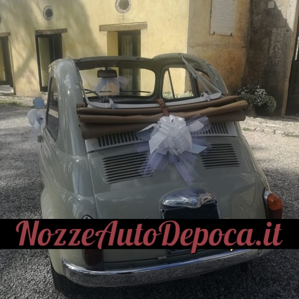 Fiat 500 D noleggio auto matrimoni fiat 500 guida lo sposo - auto matrimoni roma - noleggio auto roma - nozze auto roma