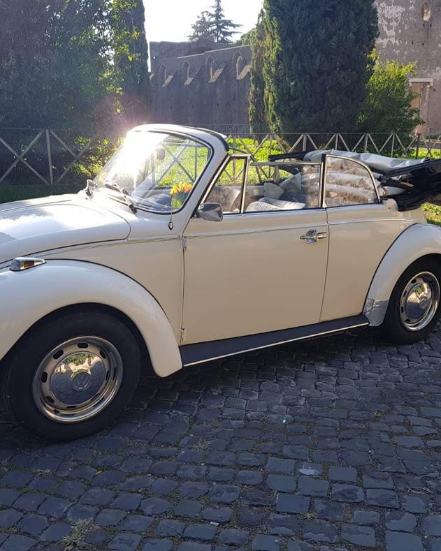 Maggiolone Cabrio - noleggio auto matrimoni - noleggio auto d'epoca - noleggio auto storiche - auto matrimoni Roma