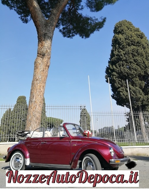 Maggiolone Cabrio Rosso - matrimoni Roma - maggiolone cabrio roma - noleggio auto d'epoca - noleggio auto storiche - noleggio auto matrimoni - Noleggio Auto matrimoni - nozze auto - auto matrimonio Roma