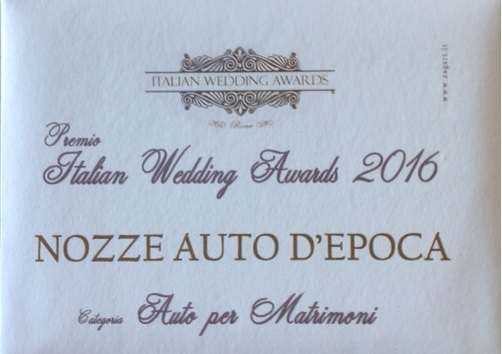 Premio Italian Wedding Adwars 2016 -  - Noleggio Auto matrimoni - nozze auto - auto matrimonio Roma