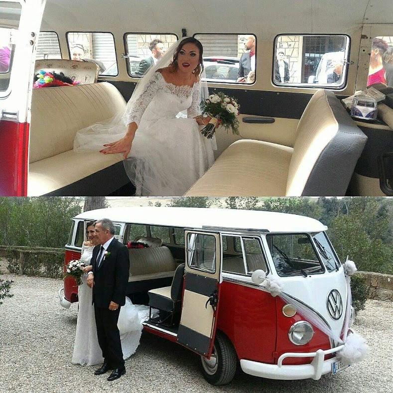 Noleggio auto d'epoca Pulmino t1 rosso e bianco style per matrimoni a Roma e tutta la provincia - noleggio auto matrimoni roma - noleggio auto matrimonio - notte auto d'epoca