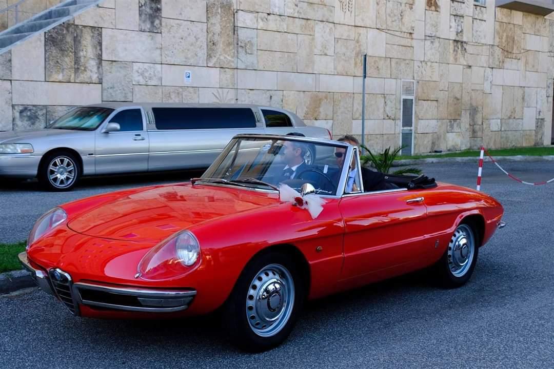 Noleggio auto d'epoca Spider Duetto anni 60 style per matrimoni a Roma e tutta la provincia - noleggio auto matrimoni roma - noleggio auto matrimonio - notte auto d'epoca