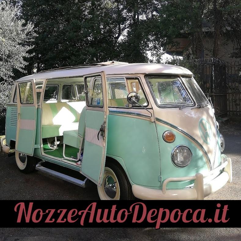 Noleggio auto matrimoni - Pulmino Vintage T1 Bebeto Samba tetto aperto - noleggio auto storiche