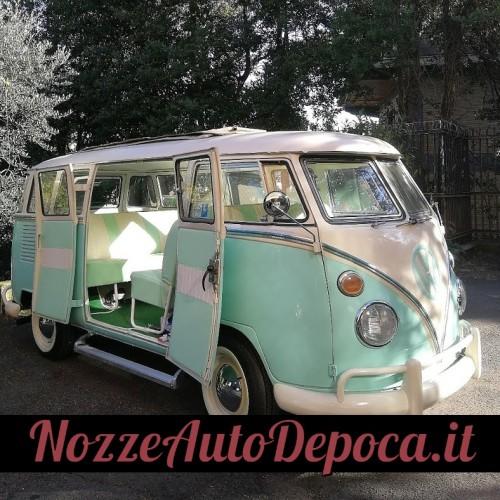 Noleggio auto matrimoni - Pulmino Vintage T1 Bebeto Samba tetto aperto - Auto d'epoca Matrimoni Roma