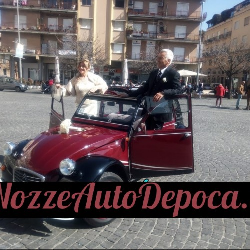 Noleggio auto matrimoni - Citroen Due Cavalli Charleston - Auto d'epoca Matrimoni Roma