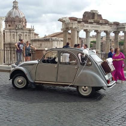 Noleggio auto matrimoni - Citroen 2CV - noleggio auto storiche