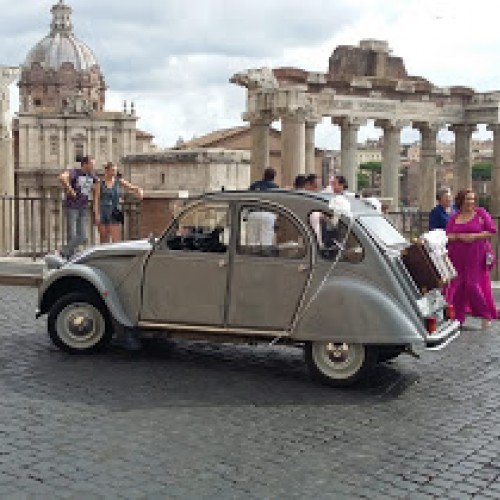 Noleggio auto matrimoni - Citroen 2CV - Auto d'epoca Matrimoni Roma