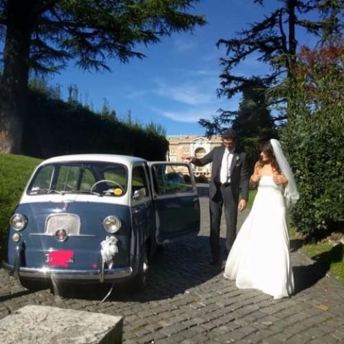 Noleggio auto matrimoni - Fiat 600 multipla anni 60 - Auto d'epoca Matrimoni Roma