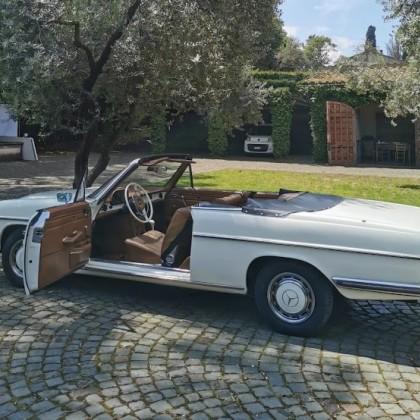 Noleggio auto matrimoni - Mercedes 250 Cabrio - noleggio auto storiche