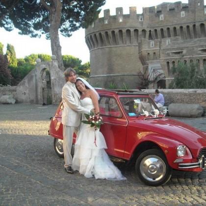 Noleggio auto matrimoni - Citroen Dyane Cabrio - noleggio auto storiche