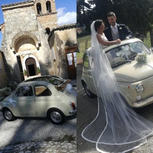 Noleggio auto matrimoni - Fiat 500 D - Auto d'epoca Matrimoni Roma