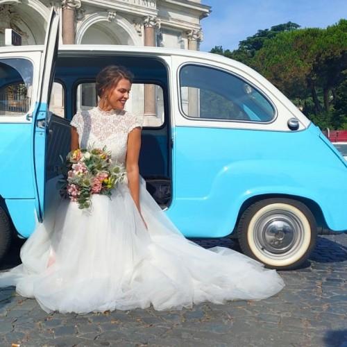 Noleggio auto matrimoni - Fiat 600 Multipla top Vintage - Auto d'epoca Matrimoni Roma