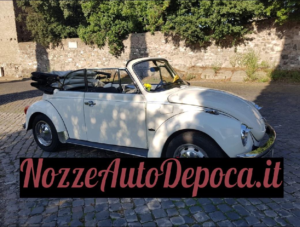 Noleggio auto matrimoni - Maggiolone Cabrio - noleggio auto storiche