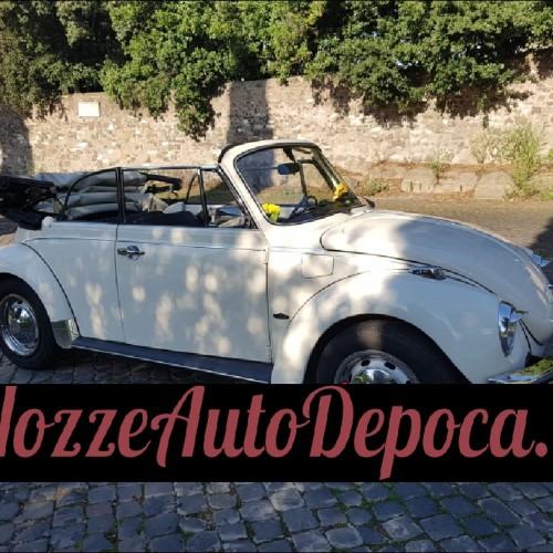 Noleggio auto matrimoni - Maggiolone Cabrio - Auto d'epoca Matrimoni Roma