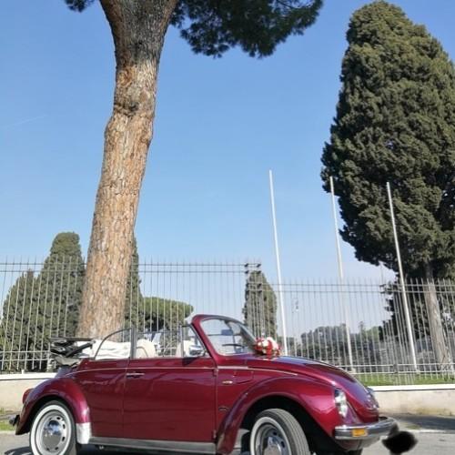 Noleggio auto matrimoni - Maggiolone Cabrio Rosso - Auto d'epoca Matrimoni Roma