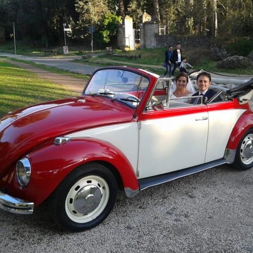 Noleggio auto matrimoni - Maggiolone Cabrio Bicolore - Auto d'epoca Matrimoni Roma
