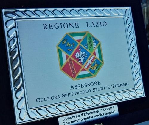 Premio Regione Lazio 2017