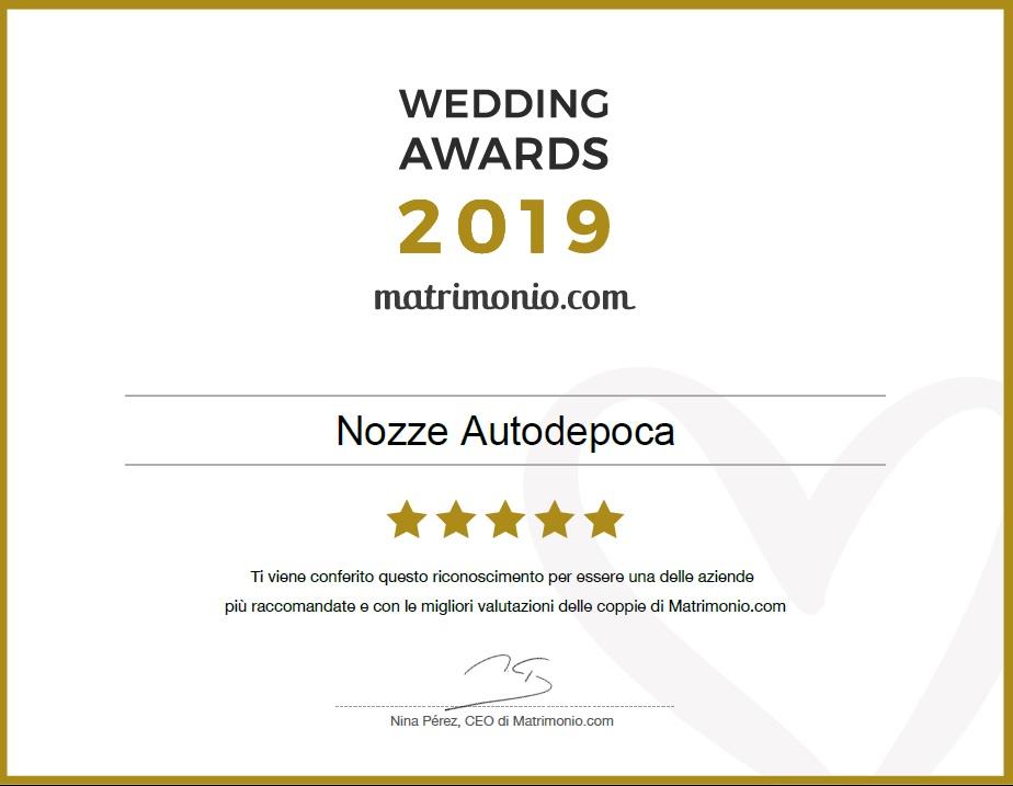 Noleggio auto matrimoni - Premio Wedding Adwars da Matrimonio.com - noleggio auto storiche