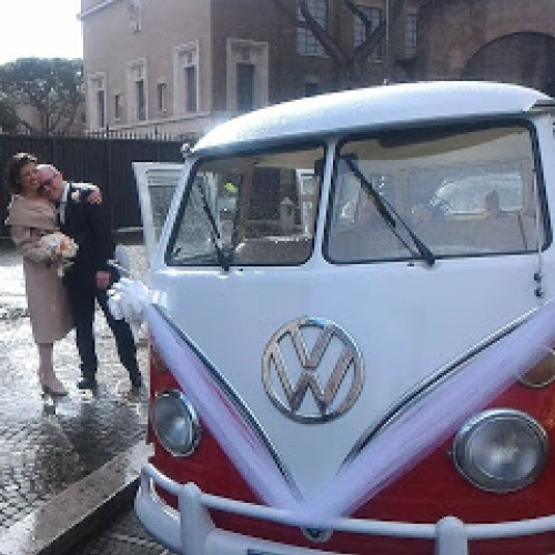 Noleggio auto matrimoni - Pulmino T1 bicolore - Auto d'epoca Matrimoni Roma