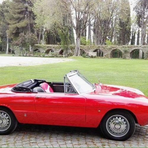 Noleggio auto matrimoni - Spider Duetto anni 60 - Auto d'epoca Matrimoni Roma