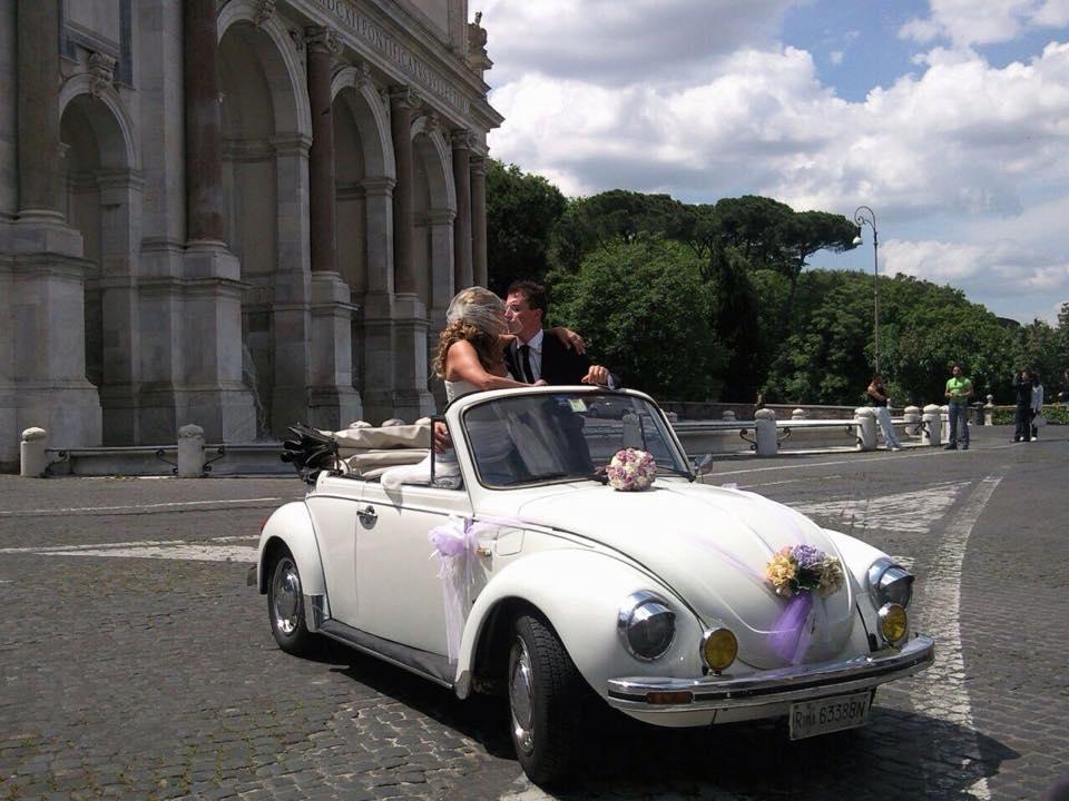 noleggio auto per matrimoni MAGGIOLONE CABRIO BIANCO ROMA LAZIO E BASSA TOSCANA