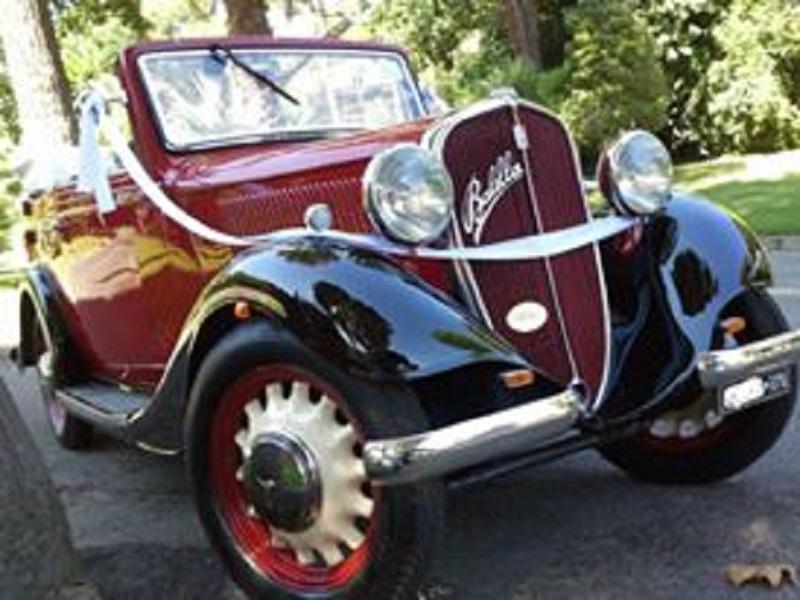 noleggio auto per matrimoni FIAT BALILLA CABRIOLET A ROMA E PROV